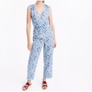"""J Crew """"Fern"""" Sleeveless Jumpsuit Cover Up S"""